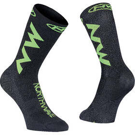 Northwave Extreme Air Socks, black/lime fluo